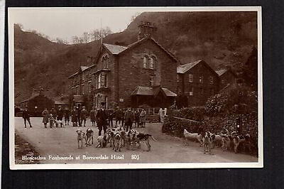 Blencathra Foxhounds at Borrowdale Hotel - real photographic postcard