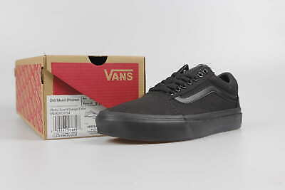 Vans Old Skool classic full canvas all black couple men and women shoes