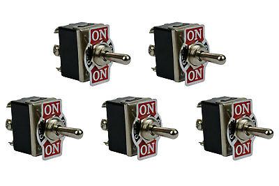 5 Pc 20a 125v Toggle Switch On-off-on Dpdt 6 Terminal Momentary 2 Side