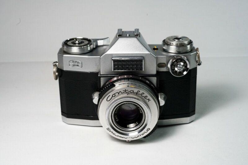 1960s Zeiss Contaflex Super 35mm Film Camera 50mm f2.8 Tessar Lens, Mint Con.
