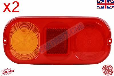 2x Rear Tail Lamp Light Lenses 70050024 New For Jcb 3cx Project 12 21