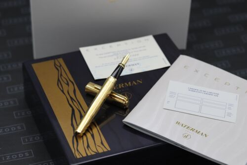 Waterman Exception LE Marks of Time Vermeil Fountain Pen - ONLY DIPPED
