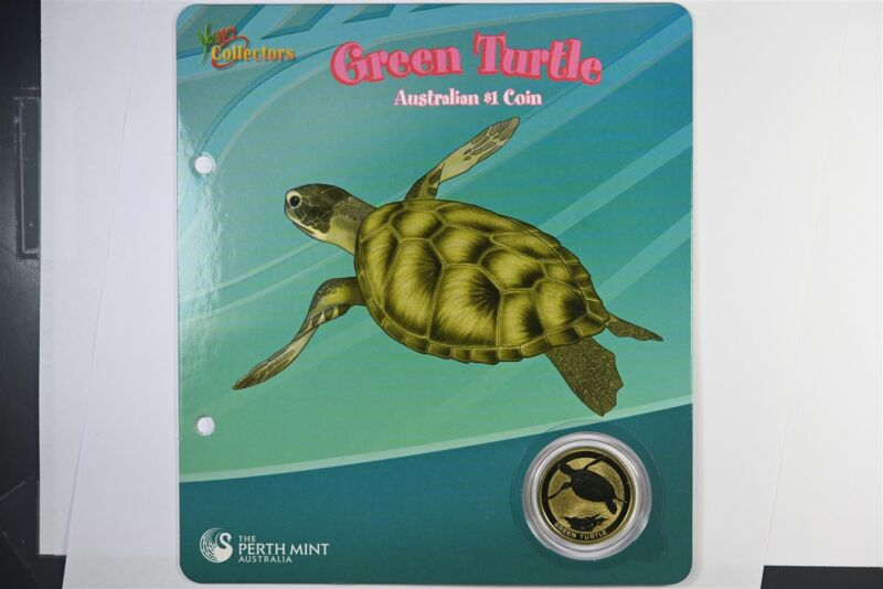 2008 Australian Green Turtle $1 Coin Perth Mint - Young Collectors - UNC