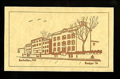 New Jersey NJ postcard Street View, Burlington Vintage Jennings, Franklin