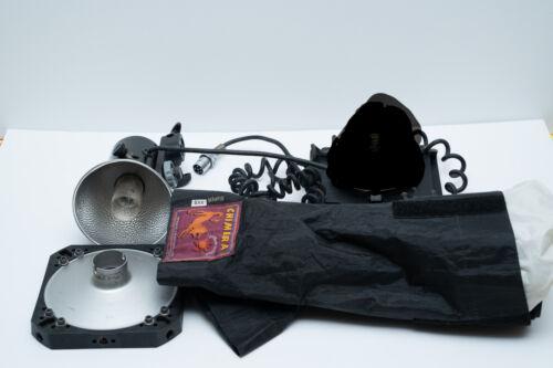 Lumedyne flash head Kit softbox barndoor speedring WORKING #1