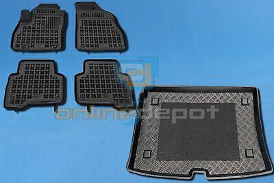 Gummi-Fußmatten mit Kofferraumwanne FIAT QUBO 2007-heute