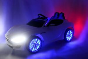EXCLUSIVE 12V LICENSED MASERATI KIDS CARS  WITH RUBBER TIRES/RC/