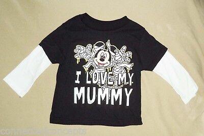 Halloween Toddler Shirts (Halloween Disney Mickey Love My Mummy Infant/Toddler Long Sleeve)
