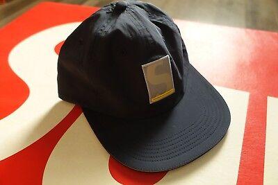 Deadstock Supreme Performance Nylon 6-Panel Hat Cap Navy DSWT FW18/BOGO TNF BOX