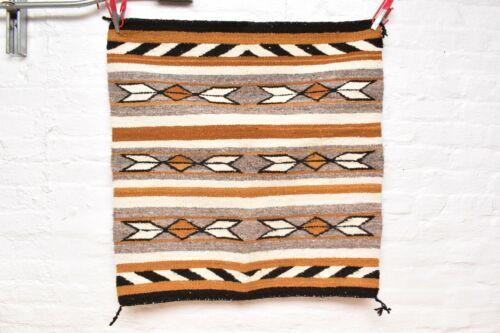 VINTAGE Navajo Rug Native American Indian Weaving Textile 31x30 Saddle Blanket