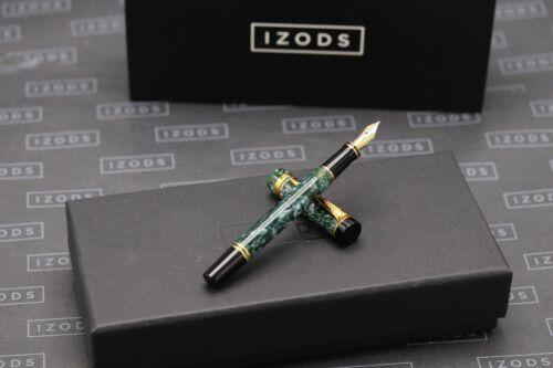 Parker Duofold International Green Marbled Fountain Pen - MK1