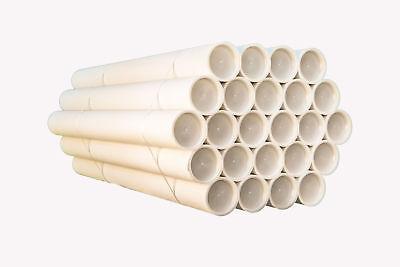 20 Tubes Carton with Cap Plastic Poly Mailing Bags Alt100x6cmdiametro White