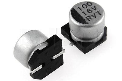 25pcs 0.42 Smd Aluminium Electrolytic Capacitor 16v 100uf 6x5mm