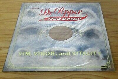 Vintage Dr. Pepper Glass Mirrored Sign Part of Calendar Clock
