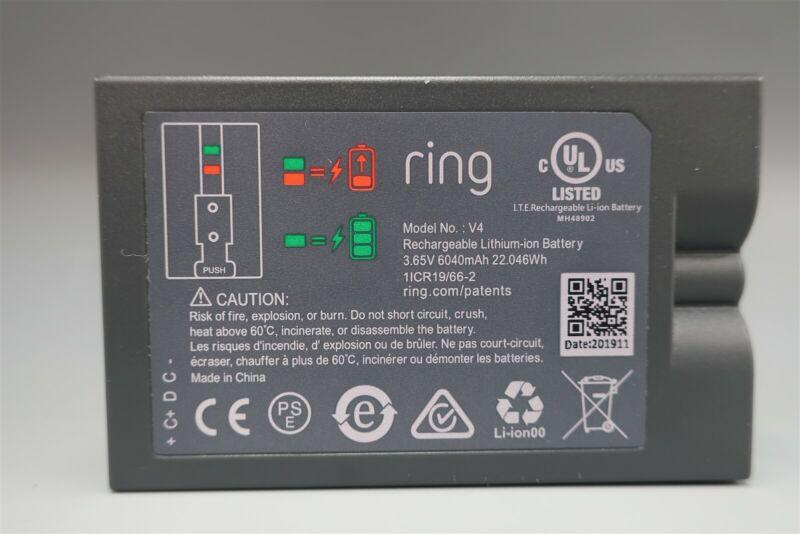 Ring Door Bell 2 V4 3.65V 6040mAh Li-ION Battery Genuine OEM