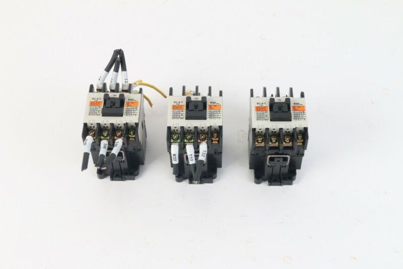 Fuji Electric SC-4-1 (19) SC19AA Contactors W/ SZ-Z5 Relay Suppressor (Lot of 3)