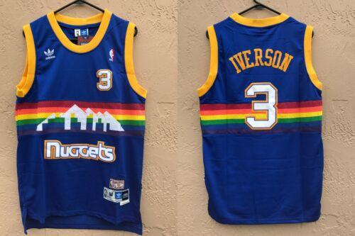 NWT Denver Nuggets Allen Iverson #3 NBA Swingman Throwback J