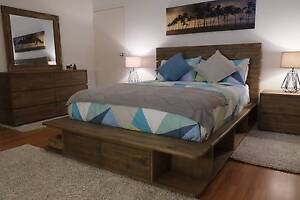 Reclaimed Timber Portsea Style Queen Bed Frame - NEW IN BOX Hawthorn Boroondara Area Preview