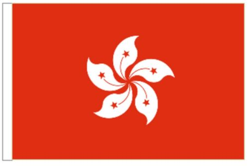 China Hong Kong Region Sleeved Courtesy Flag ideal for Boats 45cm x 30cm