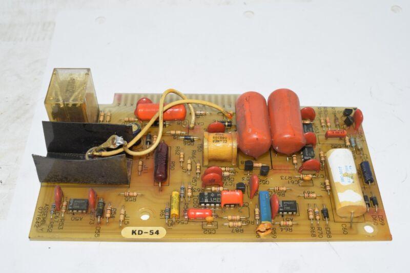 MILLER ELECTRIC 071642 CONTROL BOARD PCB Circuit Board KD-54