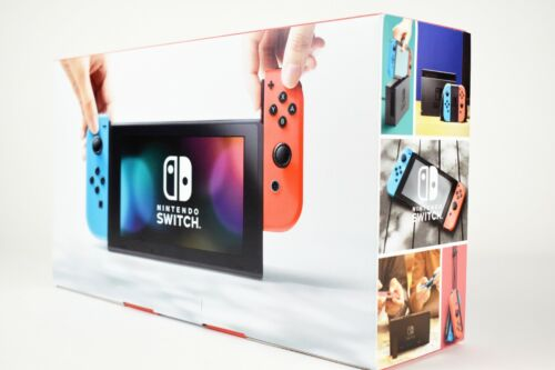 New Nintendo Switch Console 32GB Neon Red & Blue Joy-Cons +
