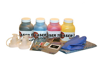 4 Toner Refills for Xerox Phaser 6128MFP 6128 MFP/N 106R01455 with Reset Chips