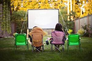 Outdoor Backyard Movie Party Hire Large Screen $199 for Weekend Campbelltown Campbelltown Area Preview