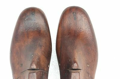 Antique Old Vintage Indian Rare Wooden Man Shoe Pair Factory Mold L-51