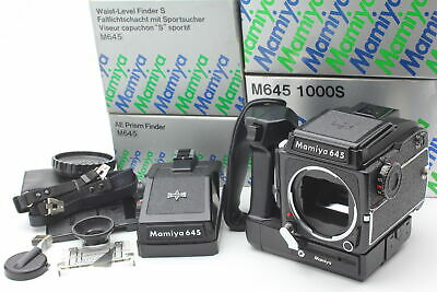 [Top Mint Box] Mamiya M645 1000S Camera Late Model AE+WLF Winder from Japan