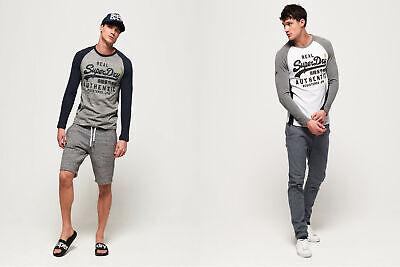 Superdry Mens Vintage Logo Raglan Long Sleeve T-Shirt