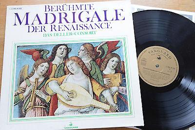 DELLER-CONSORT Berühmte Madrigale der Renaissance VANGUARD