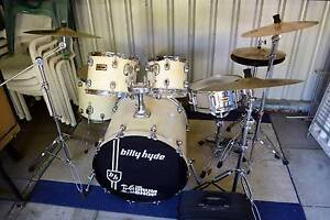 5-piece Billy Hyde drum kit Pearl Kick pedal and Meinl crash Floreat Cambridge Area Preview