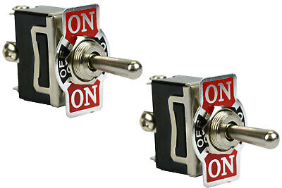 2 Pc 20a 125v Toggle Switch On-off-on Spdt 3 Terminal Momentary 2 Side
