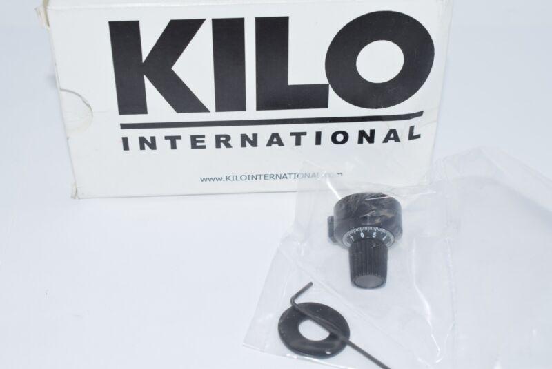 NEW Kilo International 3412 Knob; Vernier; 20; 10; 1/4 in.; 1 in.; 0.875 in.; 0.