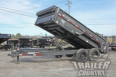 New 7 X 14 14k Gvwr Scissor Hoist Power Hydraulic Dump Trailer Equipment Hauler