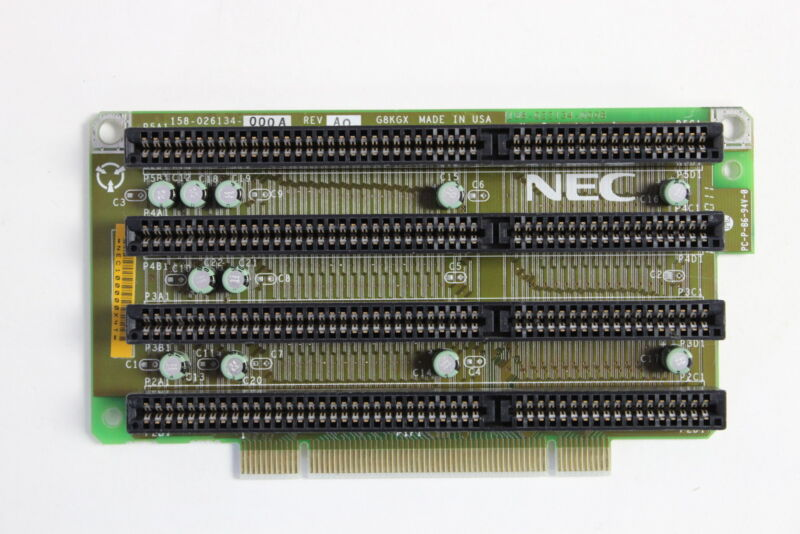 NEC 158-026134-000A G8KGX 4 SLOT ISA RISER BOARD PM466  WITH WARRANTY