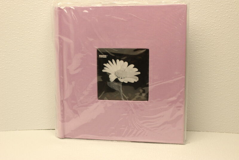 Pioneer 200 Pocket Fabric Frame Cover Photo Album pink