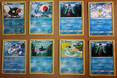 Assorted Water & Electric Type Pokemon cards (16 cards)