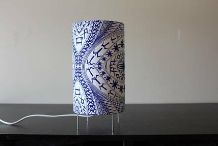 Samoan White and Blue Table Lamp Box Hill North Whitehorse Area Preview