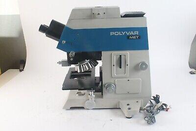 Reichert Jung Polyvar Met 300602 Microscope W 10x0.20 5x0.10 100x 0.90 Ep