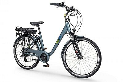 City Electric Bike eBike EcoBike Traffic - Panniers - Suspension - Lights