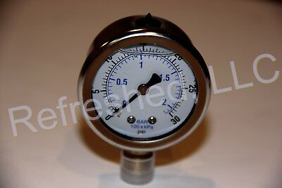 Quincy 110822 Oil Pressure Gauge Air Compressor Parts 2025-0186-00