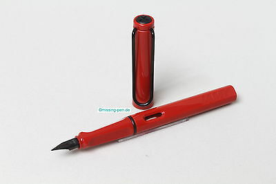 Lamy Safari Old Color Red with black clip as Fountain Pen