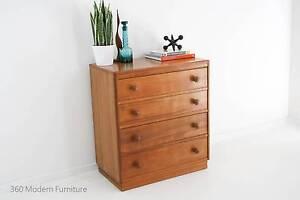 Mid Century Sideboard Drawers Dresser Retro Vintage Danish Narre Warren Casey Area Preview