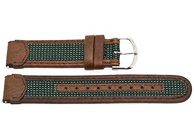 18MM BROWN GREEN LEATHER SPORT WATCH BAND STRAP FITS TIMEX EXPEDITION INDIGLO Brown Expedition Watch Band