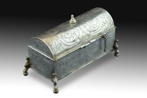 Silver Chest, Basque Country, Spain, 17th Century, 1617