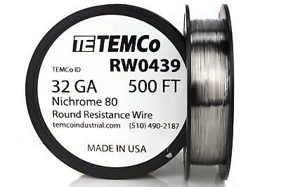 Temco Nichrome 80 Series Wire 32 Gauge 500 Ft Resistance Awg Ga