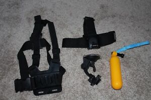 Gopro accessories [chest, head, floaty, and suction cup mounts]