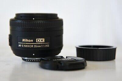 Nikon Nikkor AF-S DX 35 mm F/1.8G Lens. Lens hood, bag and original box. segunda mano  Embacar hacia Mexico