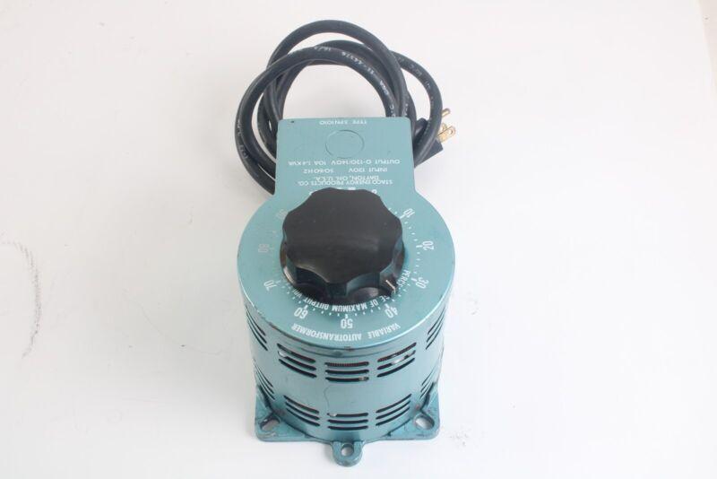 Staco 3PN1010 Variable Autotransformer 120V 50/60Hz 10Amps